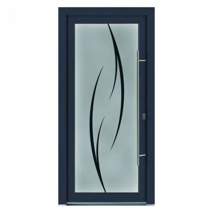 Porte d'entrée PVC Cristal
