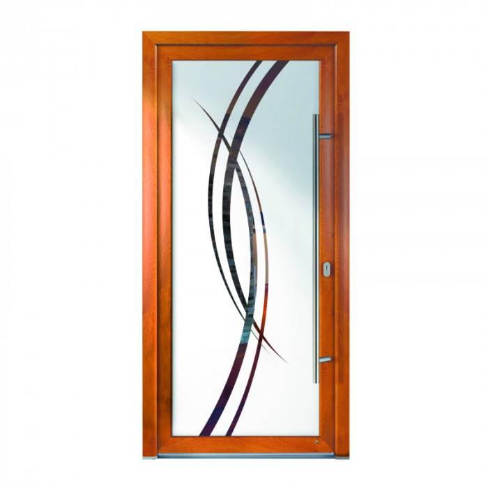 Porte d'entrée PVC Corail