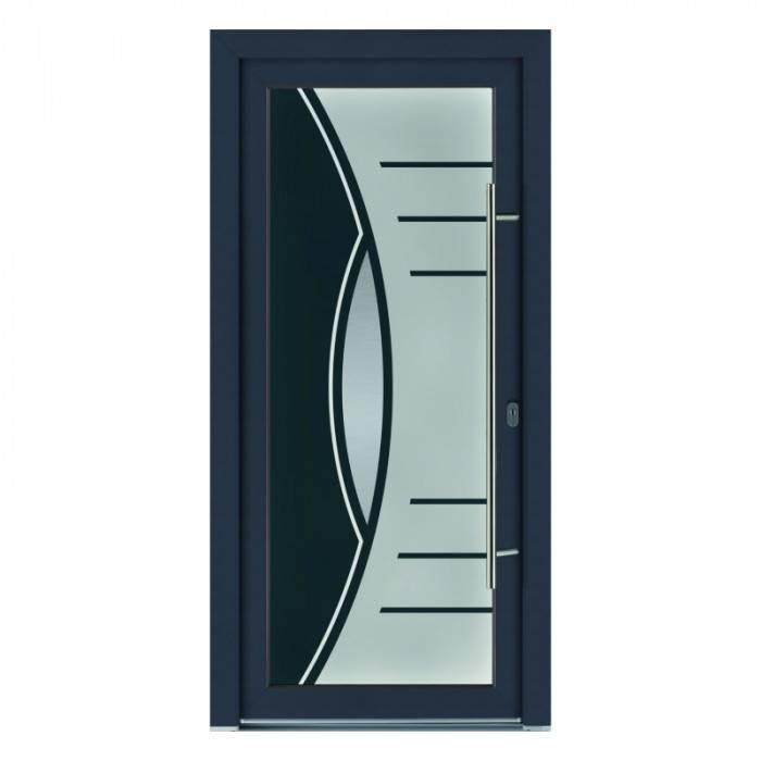 Porte d'entrée PVC Jaspe