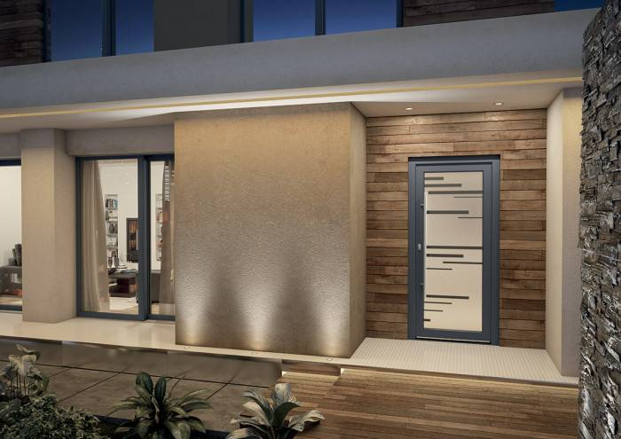 Porte ALU Larimar ambiance 3D