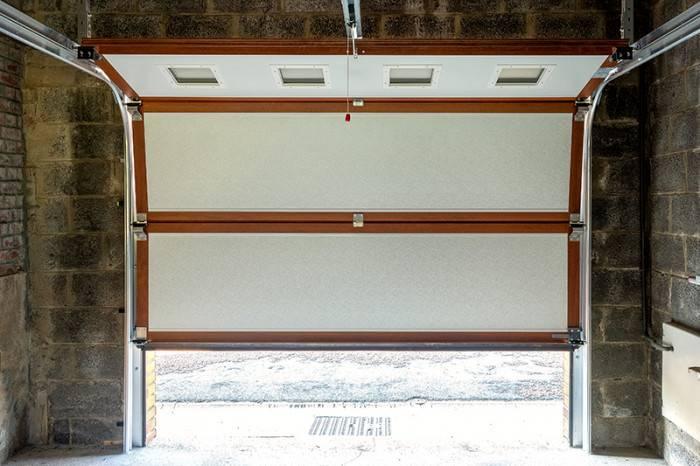 Porte de garage PGS AD blanc interieur