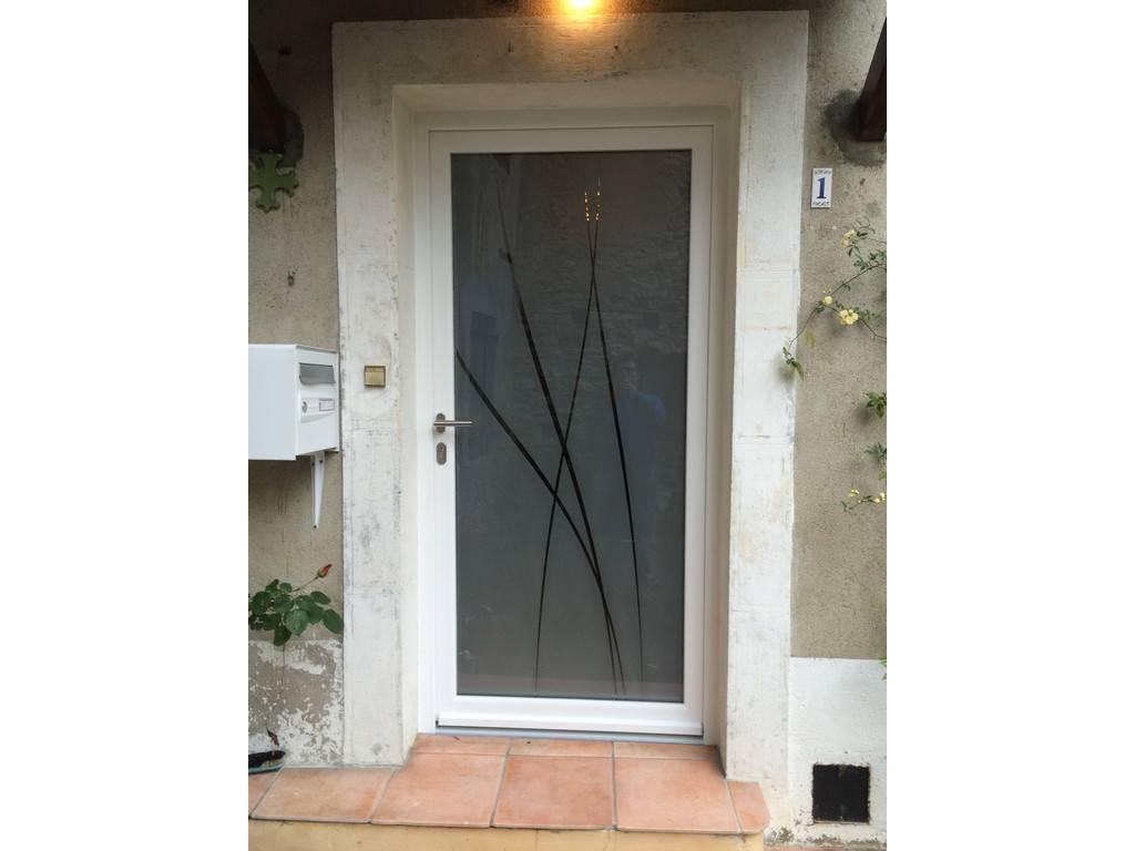 Porte d 39 entr e aluminium carcassonne aude - Tryba porte d entree aluminium ...