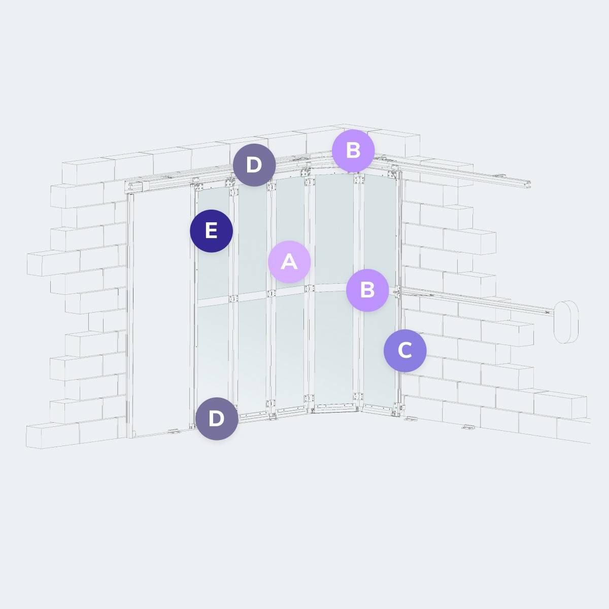 Caractéristiques du modèle Porte de garage PGSL ALU DESIGN