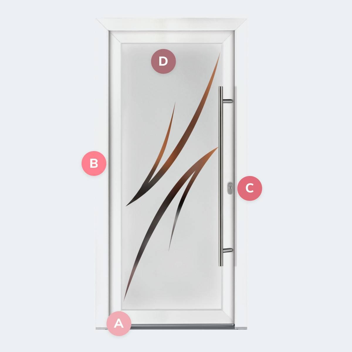 Caractéristiques du modèle Porte PVC Iris