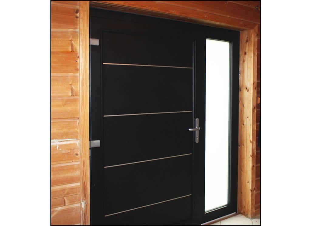 Pose de porte d 39 entr e aluminium noire vaulx tryba seynod annecy - Tryba porte d entree aluminium ...