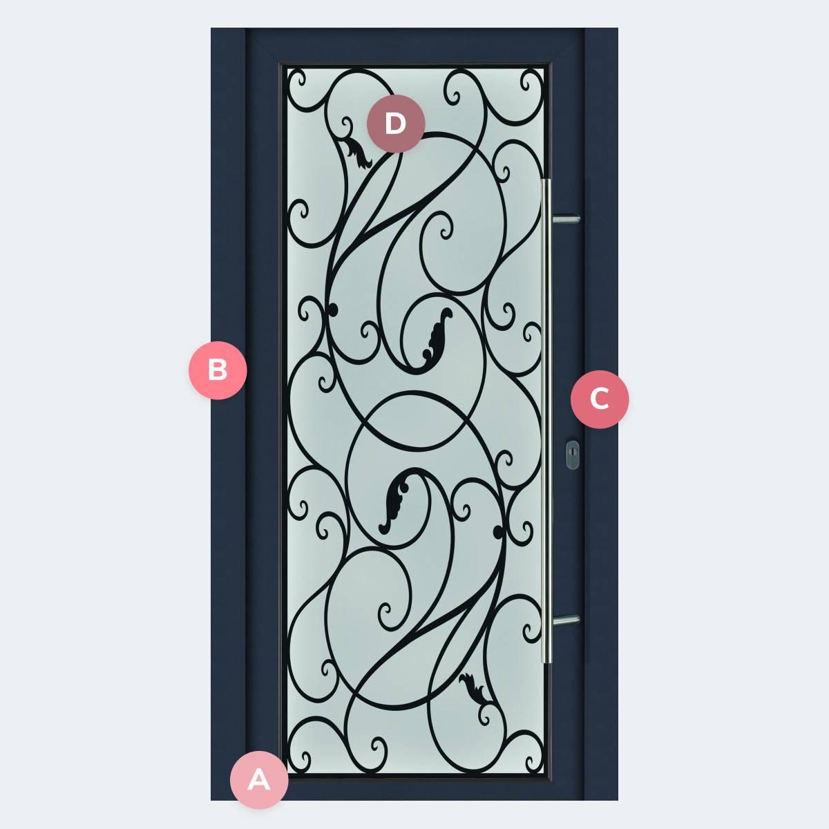 Caractéristiques du modèle Porte PVC Baroque