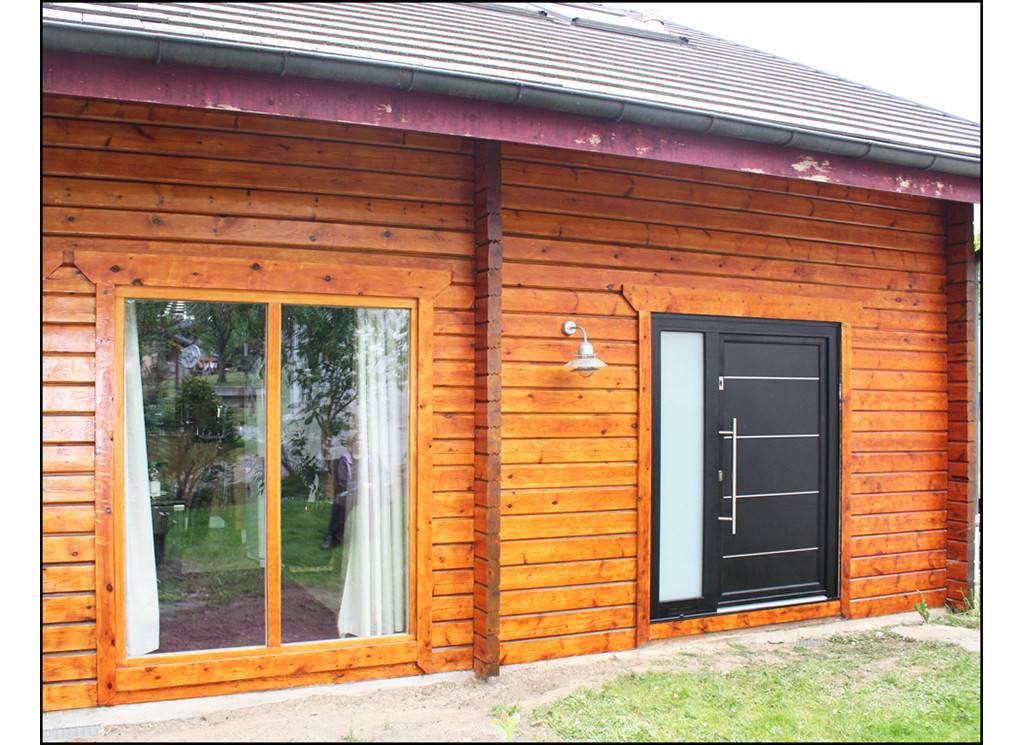 Pose de porte d 39 entr e aluminium noire vaulx tryba seynod annecy - Pose de porte ...