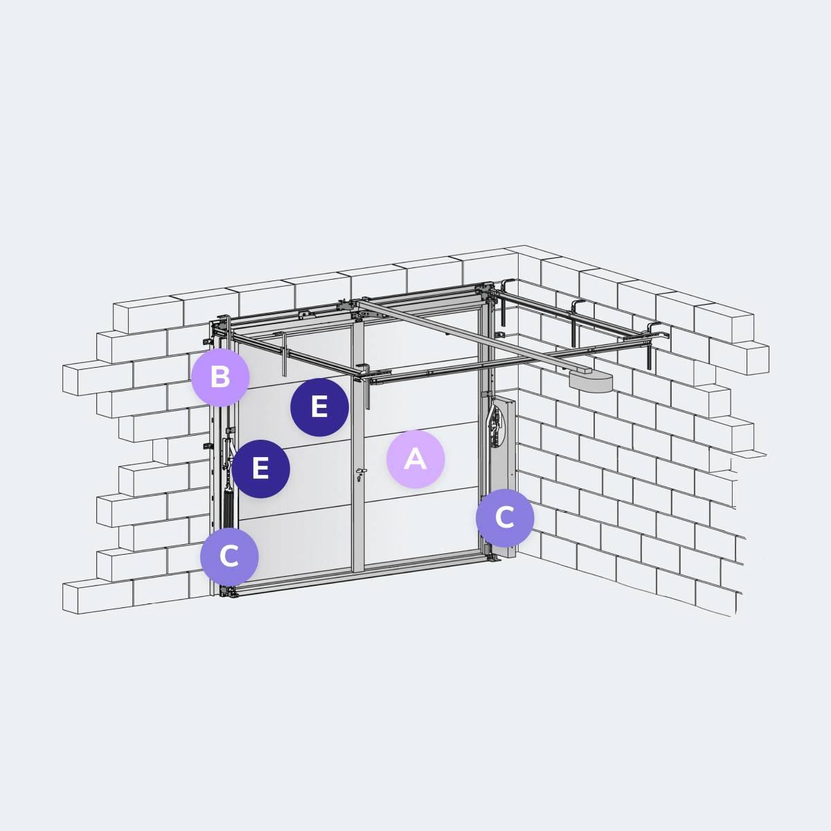 Caractéristiques du modèle Porte de garage basculantes PGB ALU DESIGN