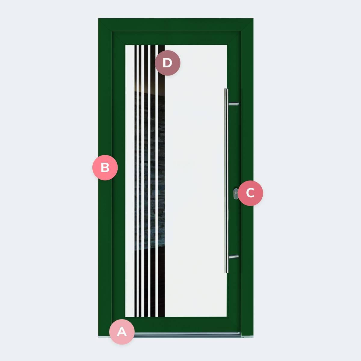 Caractéristiques du modèle Porte PVC Améthyste