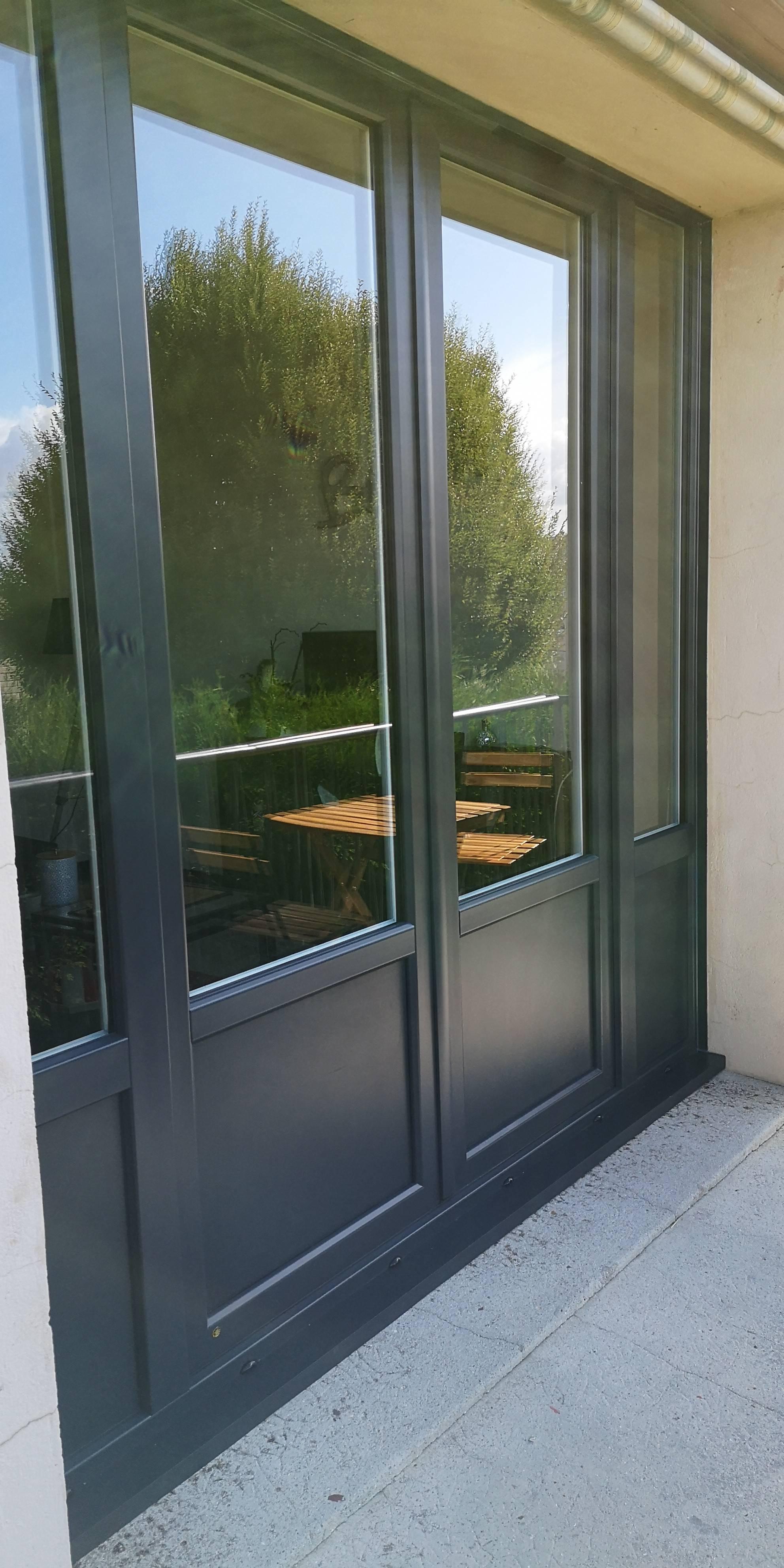 Fenêtres Pvc T84 Blanc Intérieur Gris Anthracite Perlé Extérieur