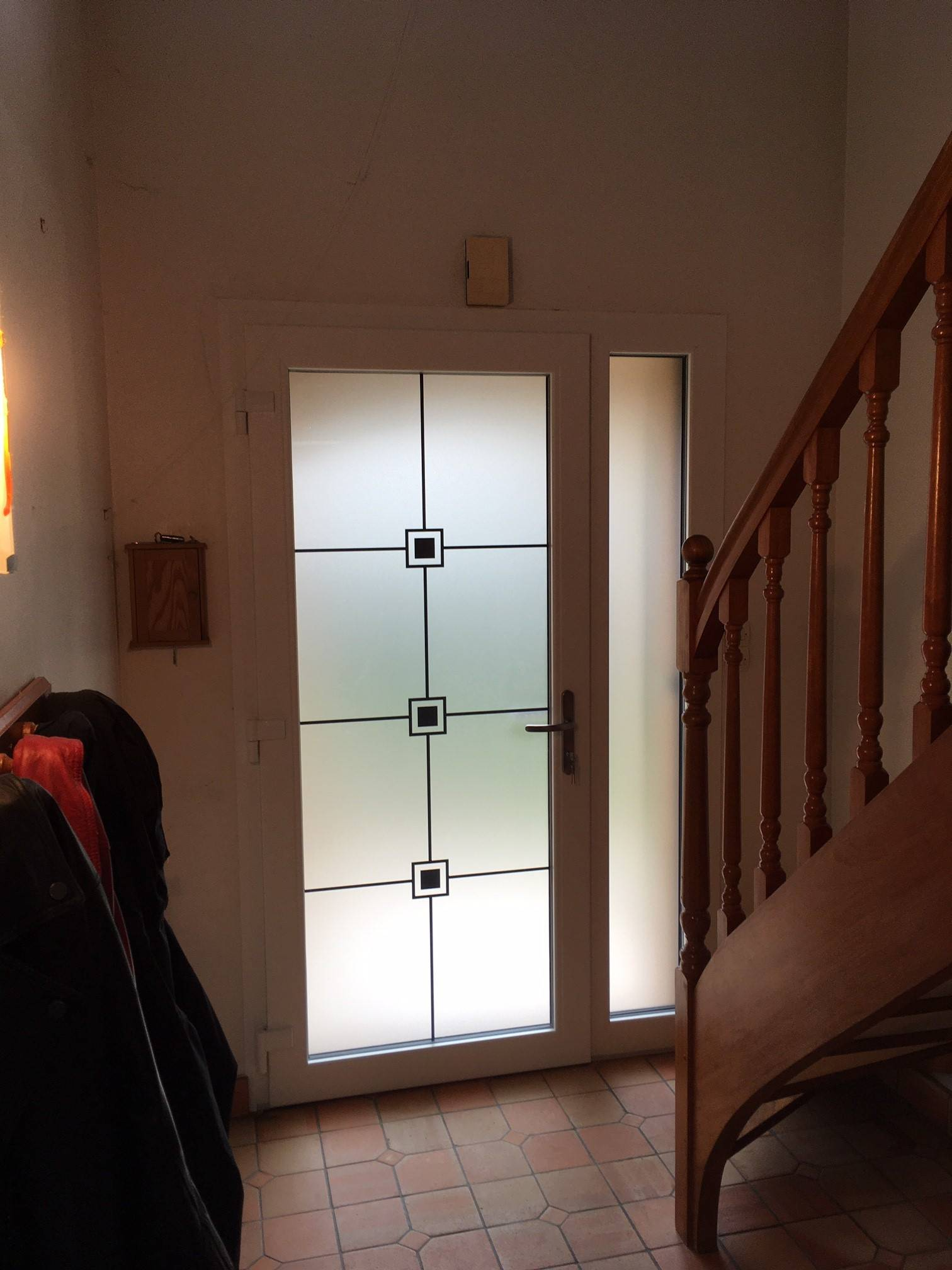 Couleur Porte Interieur Blanc Gris porte d'entrée aluminium tiers bi-couleur blanc/brun gris
