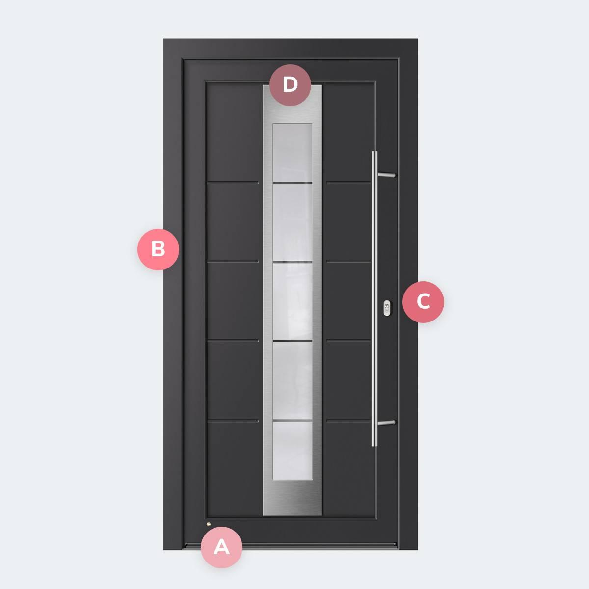 Caractéristiques du modèle Porte PVC Merida