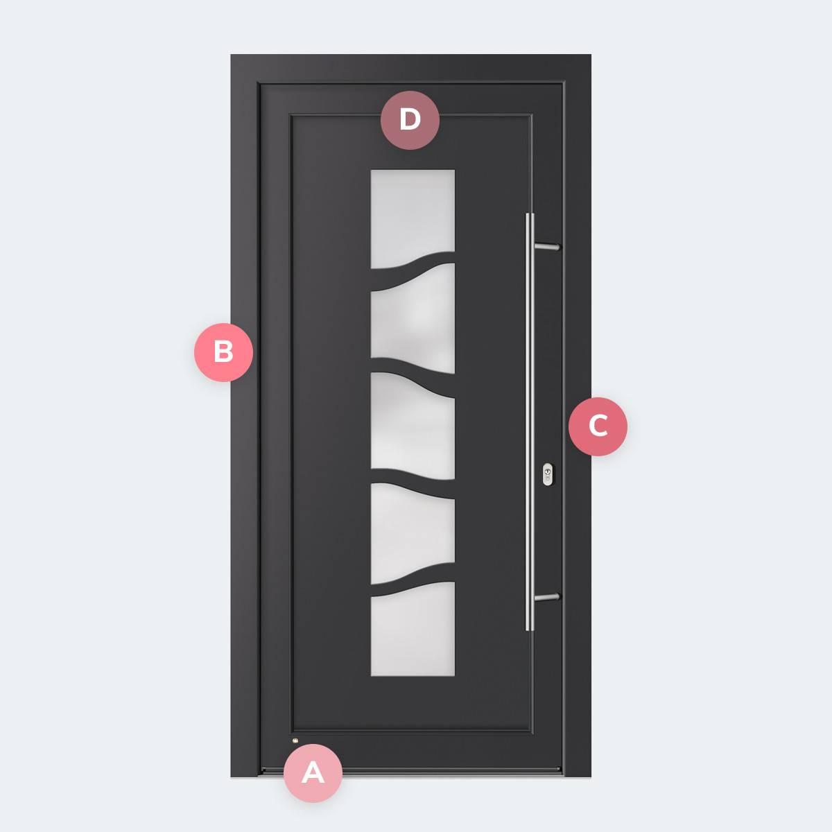 Caractéristiques du modèle Porte PVC Palma