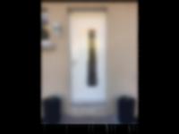porte d'entrée vitrée moderne