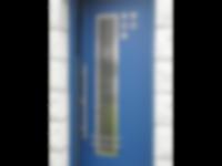 Porte d'entrée en aluminium RAL bleu 500
